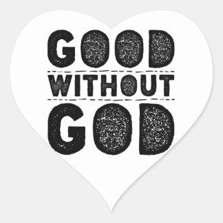 Bon sans Dieu Sticker Cœur