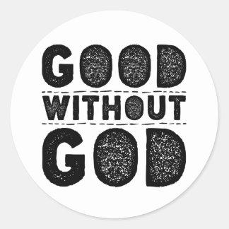 Bon sans Dieu Sticker Rond