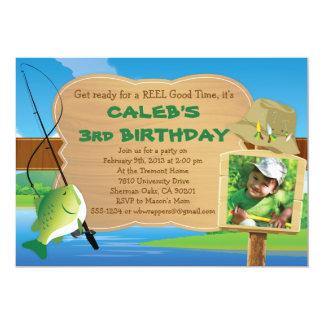 Bon temps de bobine - pêche de l'invitation carton d'invitation  12,7 cm x 17,78 cm