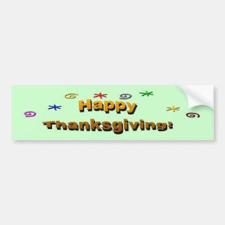 Bon thanksgiving adhésifs pour voiture