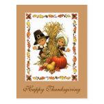 Bon thanksgiving carte postale