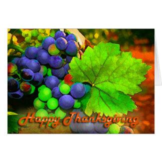 Bon thanksgiving de raisins de récolte cartes de vœux