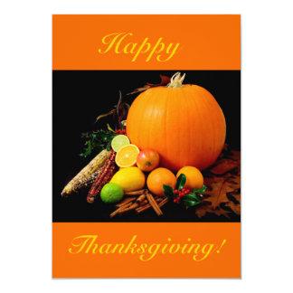 Bon thanksgiving V avec le citrouille et le fruit Faire-part Personnalisables