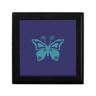Bon vibraphone Serie de papillon bleu Petite Boîte À Bijoux Carrée
