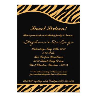 bonbon à impression du tigre 5x7 16 six carton d'invitation  12,7 cm x 17,78 cm