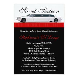 bonbon à limousine du rouge 5x7 cramoisi carton d'invitation  12,7 cm x 17,78 cm