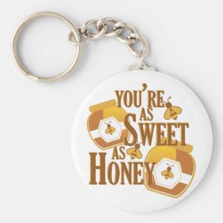 Bonbon comme miel porte-clé rond