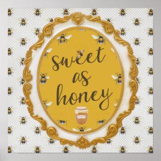 Bonbon comme miel posters