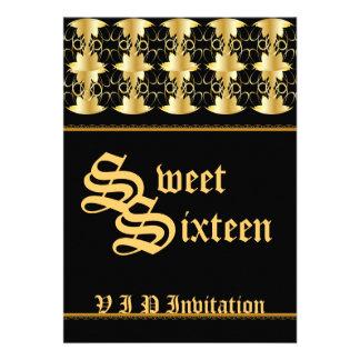 Bonbon en filigrane Sixteen-Cust à VIP Cartons D'invitation Personnalisés