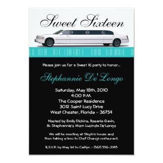 bonbon turquoise à limousine de 5x7 Turquoi Carton D'invitation 12,7 Cm X 17,78 Cm