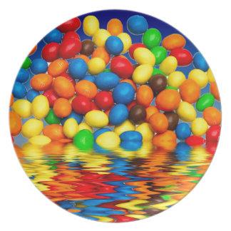 Bonbons à chocolat de millimètre assiettes en mélamine