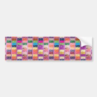 Bonbons graphiques artistiques Checkered à DRAGÉES Autocollants Pour Voiture