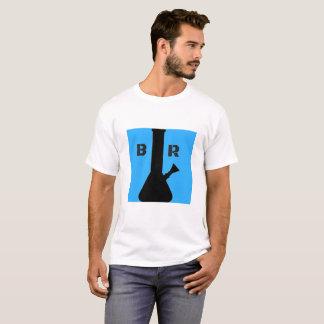 Bong le T-shirt de logo de bleu de ciel de
