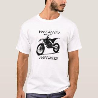 Bonheur d'achat - noir sur le blanc t-shirt