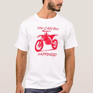 Bonheur d'achat - rouge sur le blanc t-shirt