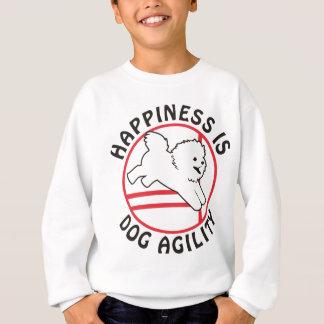 Bonheur d'agilité de Bichon Sweatshirt