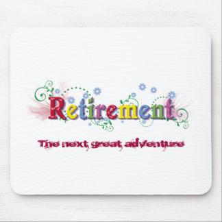 Bonheur de retraite tapis de souris
