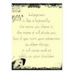 Bonheur et citation de papillons cartes postales