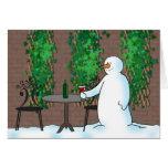 Bonhomme de neige carte de vœux