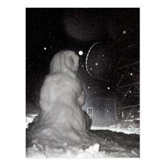 bonhomme de neige carte postale