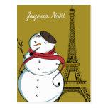 Bonhomme de neige de Joyeux Noël Carte Postale