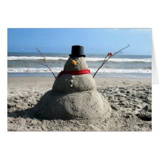 Bonhomme de neige de la Floride - carte de voeux