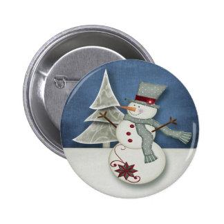 Bonhomme de neige de Noël Badges