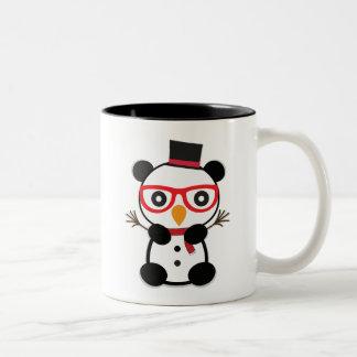 Bonhomme de neige de panda - Léon la tasse de