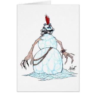 Bonhomme de neige de punk de Goth Carte De Vœux