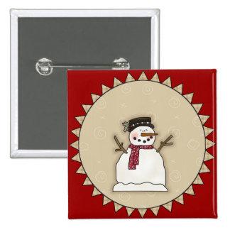Bonhomme de neige de sourire pin's