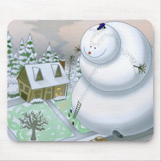 Bonhomme de neige géant Mousepad Tapis De Souris