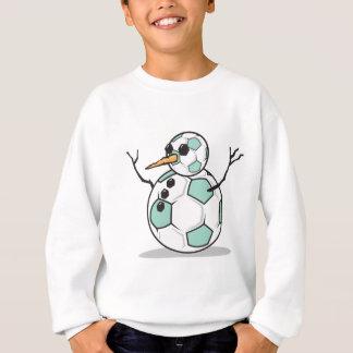 bonhomme de neige idiot de ballon de football sweatshirt