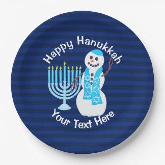 Bonhomme de neige juif de Z Hanoukka et partie Assiettes En Papier