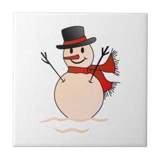 Bonhomme de neige petit carreau carré