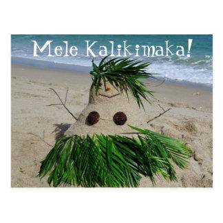 Bonhomme de neige Sandman de Mele Kalikimaka de Carte Postale