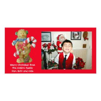 Bonhomme en pain d'épice de carte photo de Noël Photocartes