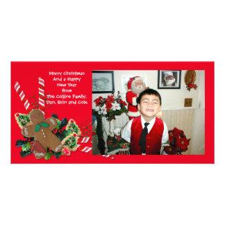 Bonhomme en pain d'épice de carte photo de Noël Photocartes Personnalisées