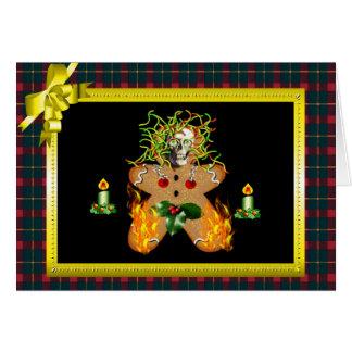 Bonhomme en pain d'épice déplaisant cartes de vœux