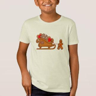 BONHOMME EN PAIN D'ÉPICE et SLEIGH par SHARON T-Shirt