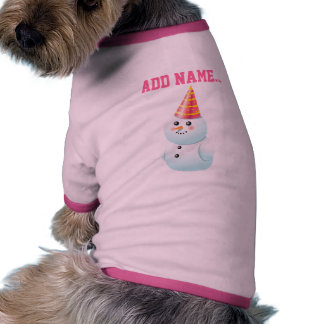Bonhommes de neige drôles tee-shirt pour animal domestique