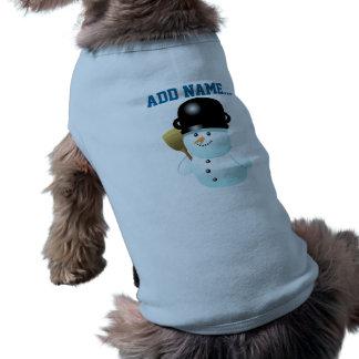Bonhommes de neige drôles t-shirts pour animaux domestiques