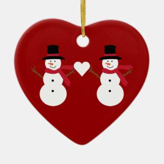 Bonhommes de neige mignons et ornement en forme de