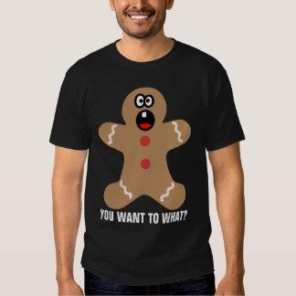 Bonhommes en pain d'épice effrayés les meilleurs t-shirt