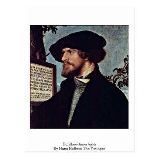 Boniface Amerbach par Hans Holbein le plus jeune Carte Postale