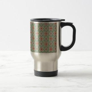 bonito floral de padrão mug de voyage en acier inoxydable