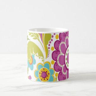 bonito floral de padrão tasse à café