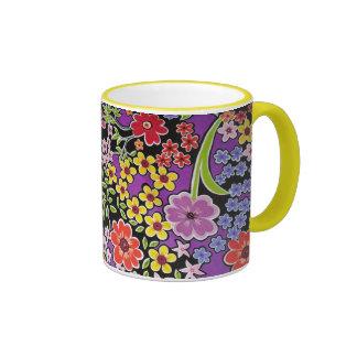 bonito floral de padrão mugs à café