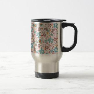 bonito floral de padrrão mug de voyage en acier inoxydable