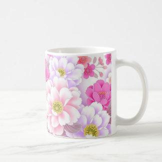 bonito floral de padrrão mugs à café