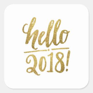 Bonjour 2018 autocollants et chemises de nouvelle